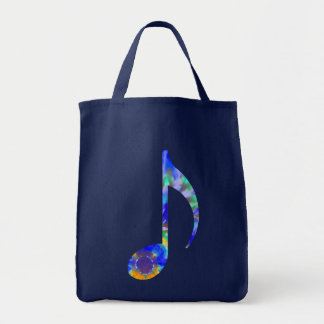 Tie Dyed Musical Note Bag
