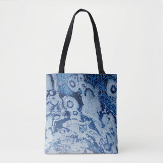 Tie Dyed Navy Blue Beach Tote Bag by Janz