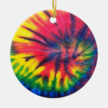 Tie Dyed Pattern Christmas Tree Ornaments