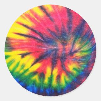 Tie Dyed Pattern Classic Round Sticker