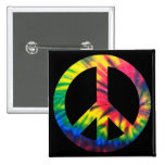 Tie Dyed Peace 2 Inch Square Button