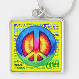 Tie~Dyed Peace Keychain