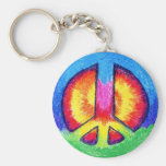 Tie~Dyed Peace Keychains