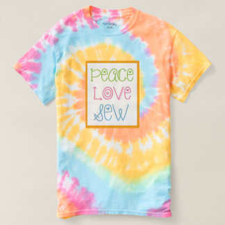 Tie Dyed Peace Love Sew T-Shirt