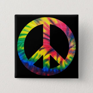 Tie Dyed Peace Pinback Button