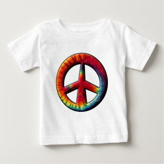 Tie Dyed Peace Sign Baby T-Shirt