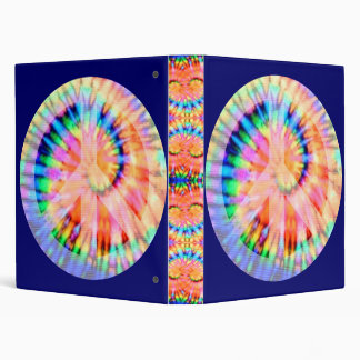 Tie Dyed Peace Sign Binder
