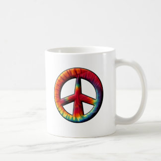 Tie Dyed Peace Sign Coffee Mug