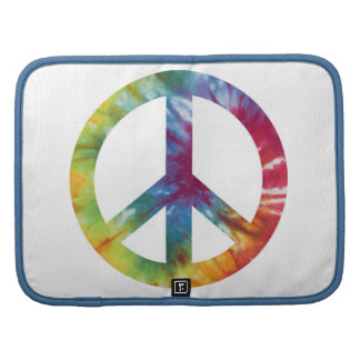 Tie Dyed Peace Sign Folio Day Planner