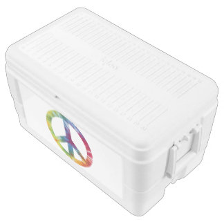 Tie Dyed Peace Sign Igloo 48 Quart Cooler