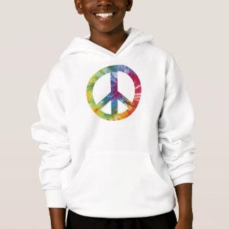 Tie Dyed Peace Sign Kid's Hooded Sweatshirt