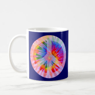 Tie Dyed Peace Sign Mug