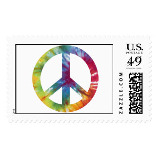 Tie Dyed Peace Sign Stamps