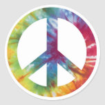 Tie Dyed Peace Sign Sticker