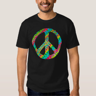 """Tie-Dyed """"Peace"""" T-Shirt"""