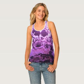 Tie Dyed Purple Razorback Tank Top by Janz