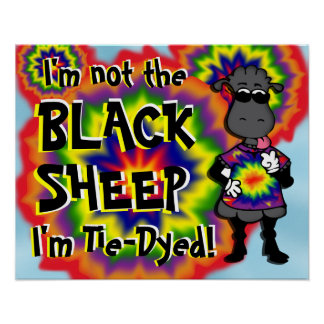 Tie-Dyed Sheep -2 Poster