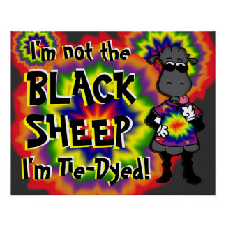 Tie-Dyed Sheep Poster