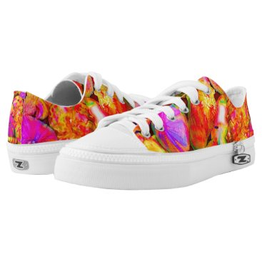 Beach Themed Tie-Dyed Shells Low-Top Sneakers