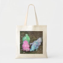Tie Dyed Silkie Chickens in Pastel Easter Colors Tote Bag
