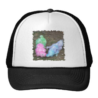 Tie Dyed Silkie Chickens in Pastel Easter Colors Trucker Hat