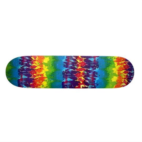 Tie-Dyed-Skateboard Skateboard
