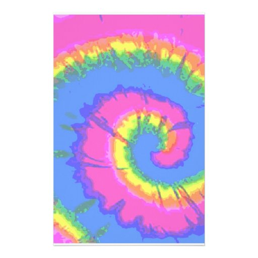 Tie-Dyed Stationery