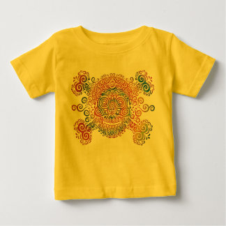 Tie-Dyed Sugar Skull Baby T-Shirt