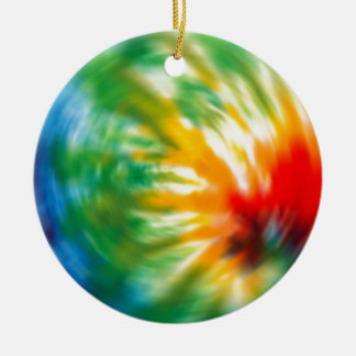 Tie Dyed Time Ceramic Ornament