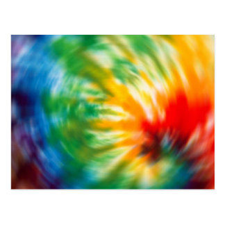 Tie Dyed Time Postcard