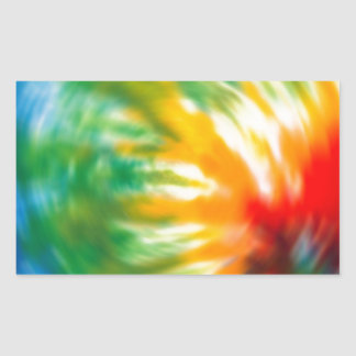 Tie Dyed Time Rectangular Sticker
