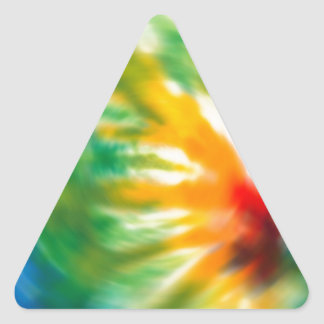 Tie Dyed Time Triangle Stickers