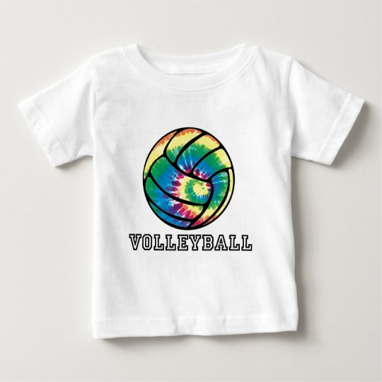 Tie-Dyed Volleyball Baby T-Shirt