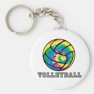 Tie-Dyed Volleyball Keychain