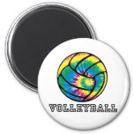 Tie-Dyed Volleyball Magnets