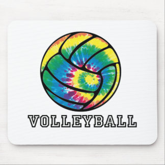 Tie-Dyed Volleyball Mouse Pad