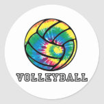 Tie-Dyed Volleyball Stickers