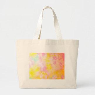 Tie Dyed Yellow Watercolor-like Batik texture Bags