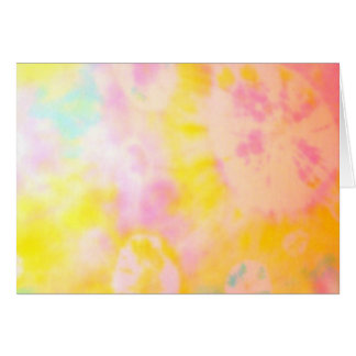 Tie Dyed Yellow Watercolor-like Batik texture Card