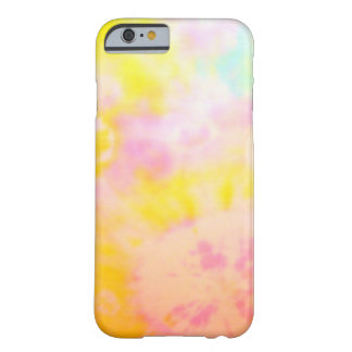 Tie Dyed Yellow Watercolor-like Batik texture Barely There iPhone 6 Case