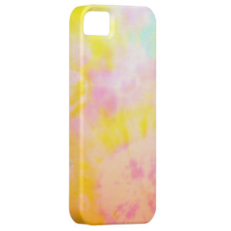 Tie Dyed Yellow Watercolor-like Batik texture iPhone 5 Cover