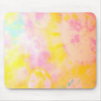 Tie Dyed Yellow Watercolor-like Batik texture Mouse Pad