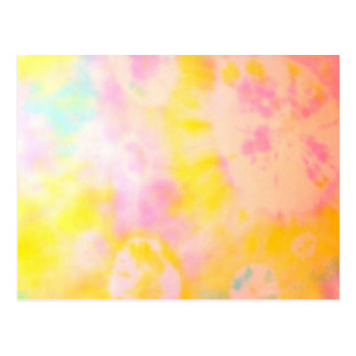Tie Dyed Yellow Watercolor-like Batik texture Post Cards