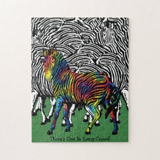 Tie-Dyed Zebra Jigsaw Puzzle
