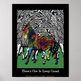 Tie-Dyed Zebra Print