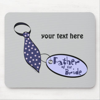 Tie Father of the Bride Gifts Mouse Pad