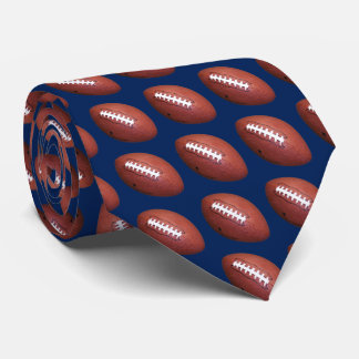 Tie, Football, Blue Background Tie
