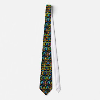 Tie:  Hanukkah Menorah - Chanukah Menorah Neck Tie