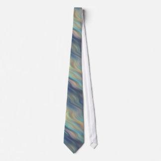 Tie in Pastel Blue Waves