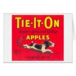 Tie It On Apple Label (red) - Tieton, WA Greeting Card